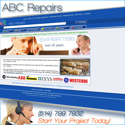 website designed for abc repairs